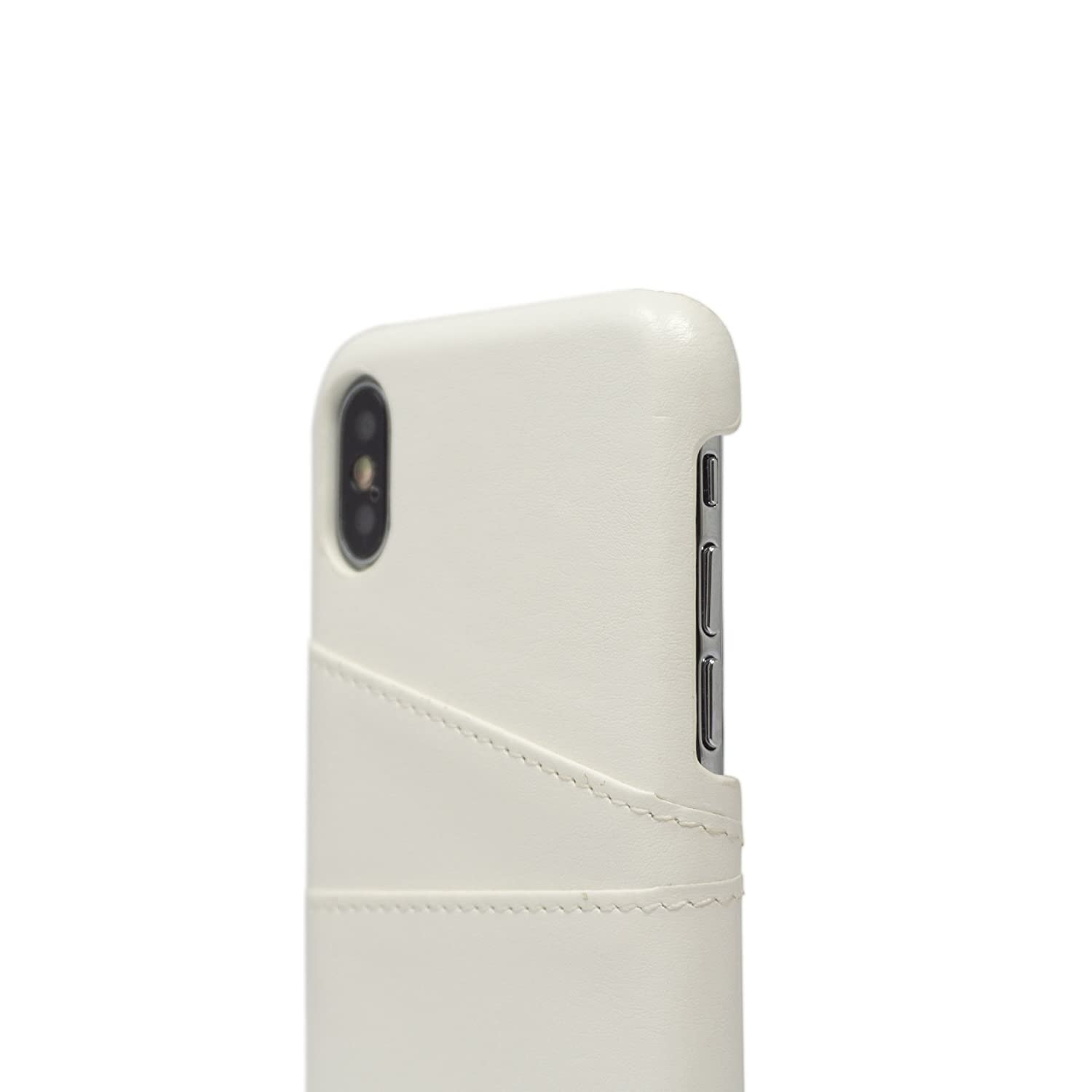 pretty nice 2b9e9 e7b8c Casedodo Leather Back Case Cover for Apple iPhone X - Sleeve - Shell White