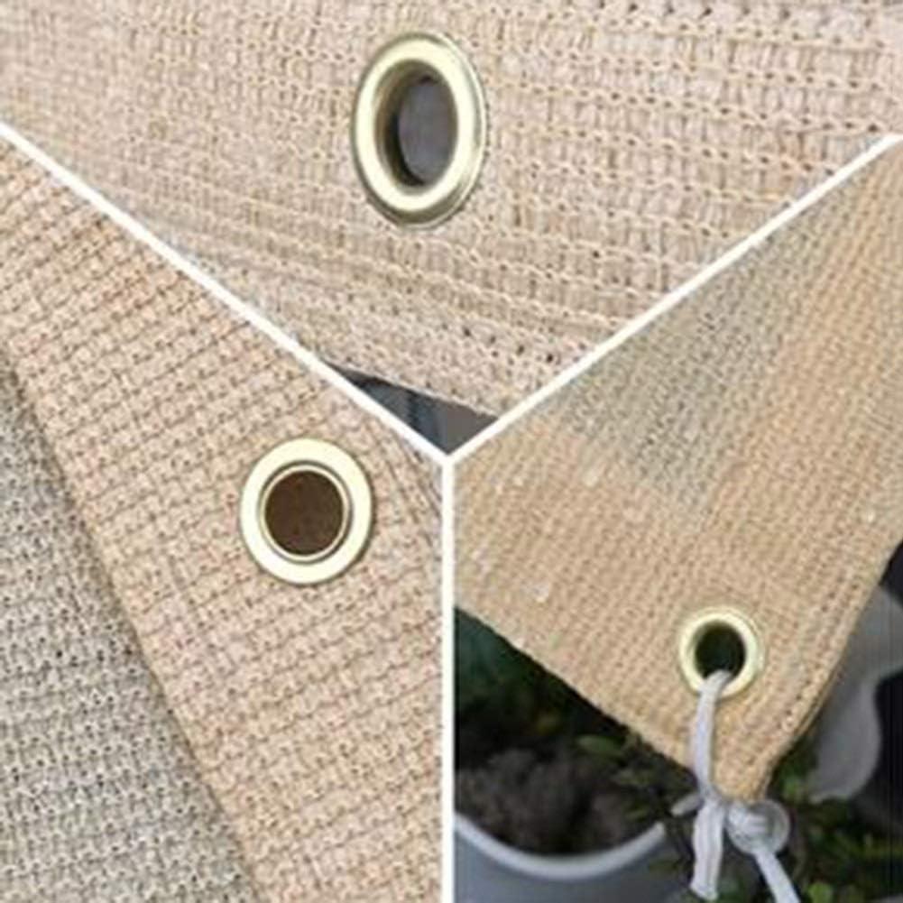 Markisen Sonnensegel Sonnencreme Netz Wasserdicht Mit Metallloch Dauerhaft Garten Pflanzendecken Balkon Terrasse TIDLT Color : Beige, Size : 1x2m