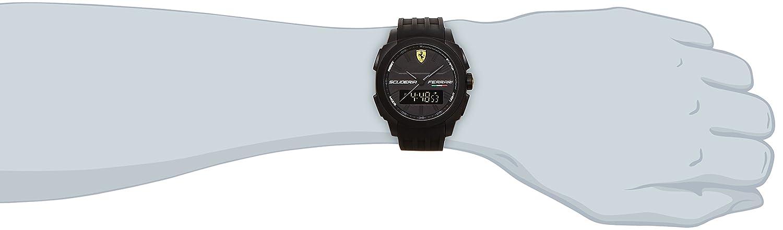 Amazon.com: Scuderia Ferrari 0830122 Aerodinamico Black Rubber Watch: Watches