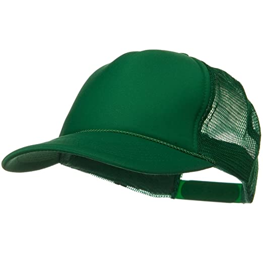 739ea84c07b Otto Caps Solid Polyester 5 Panel Foam Front Mesh Back Cap - Kelly ...