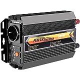 WZTO Spannungswandler 500W Wechselrichter DC 12V auf AC 230V KFZ Inverter mit Tüv Zertifiziert und 2 USB Anschlüsse Inklusive Kfz Zigarettenanzünder Stecker,Autobatterieclips Schwarz