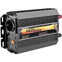 WZTO 500W Inversor de Corriente DC 12V a AC 230V, Certificado TÜV Convertidor de Corriente con 2 Puertos USB, Enchufe para Encendedor de Cigarrillos, Clips de Batería de Automóvil (500W~1000W)