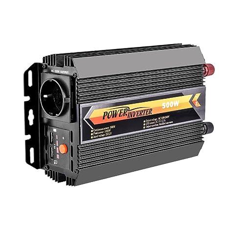 LOFTer 300W Auto Wechselrichter LED Anzeige KFZ Spannungswandler DC 12V auf AC 230V Power Inverter mit 2 USB Anschl/üsse 1 Steckdose und 2 Zigarettenanz/ünder Anschl/üssen Blau.