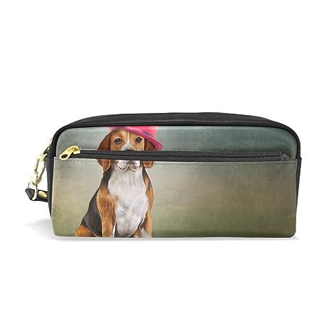 8fb4b6a4be38 Amazon.com : My Daily Funny Beagle Dog Pencil Case Pen Bag Pouch ...
