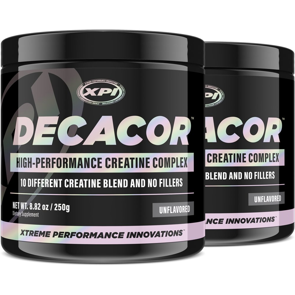 Decacor Creatine (2 Pack) - Best Creatine Powder - 10 Creatine Blend - Top Creatine Supplement - Enhance Muscles, Power and Recovery
