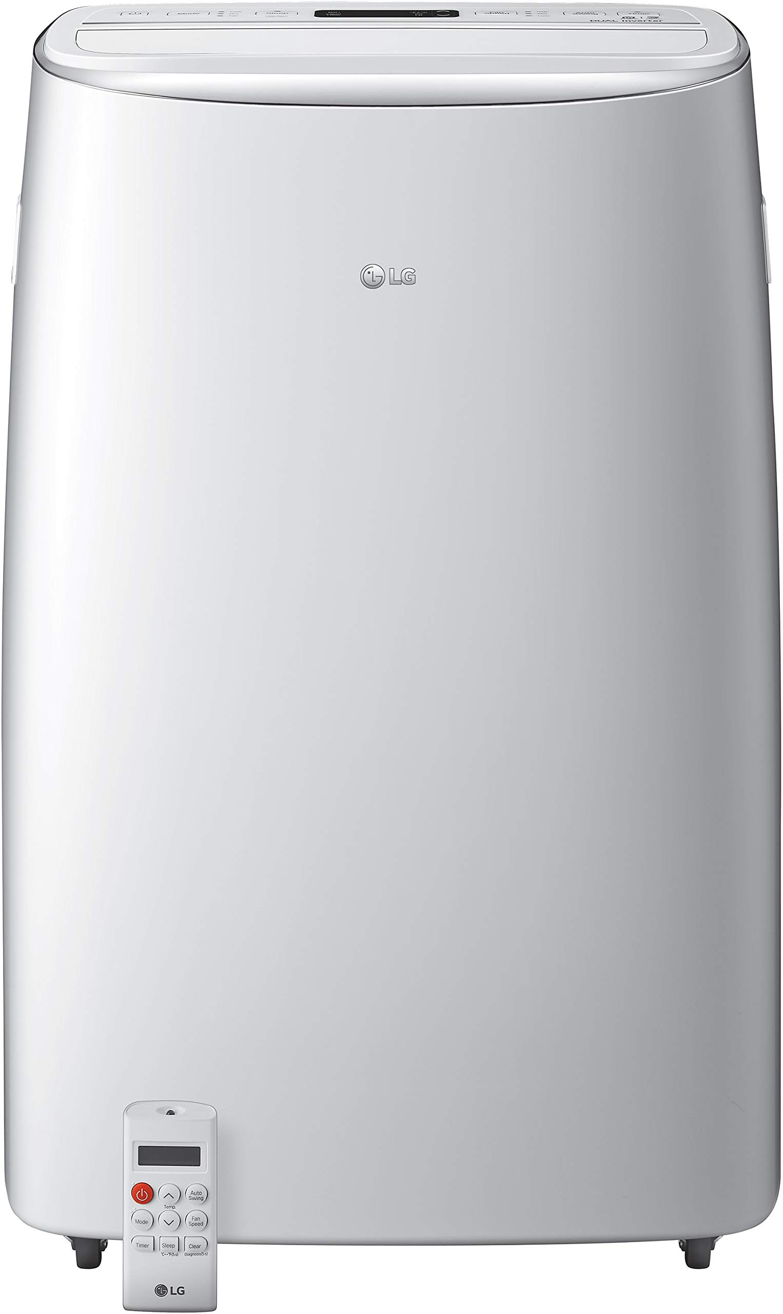 LG 115V Dual Inverter Technology Portable Air Conditioner, White by LG