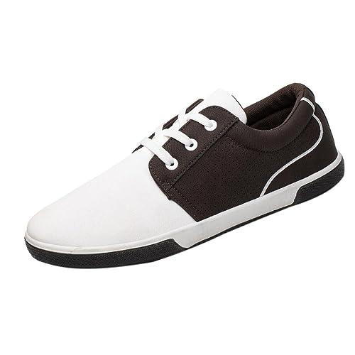 Ansenesna Homme Tongs, Automne Chaussures à Lacets en Cuir Classique  Confortable Moderne Plaine Toe Dress 91a0a0343f80