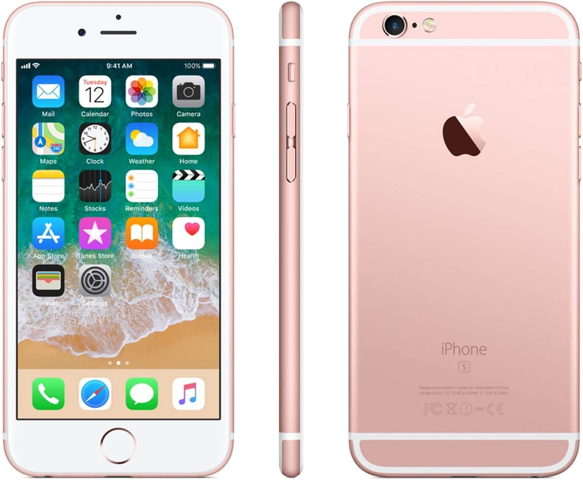 Apple iPhone 6s, Boost Mobile, 128GB - Rose Gold (Renewed)