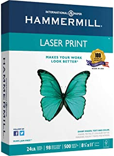 product image for 2 X Hammermill Laser Print, 24lb, (8.5 x 11) inch, 98 Bright, 500 Sheets/1 Ream (104604)