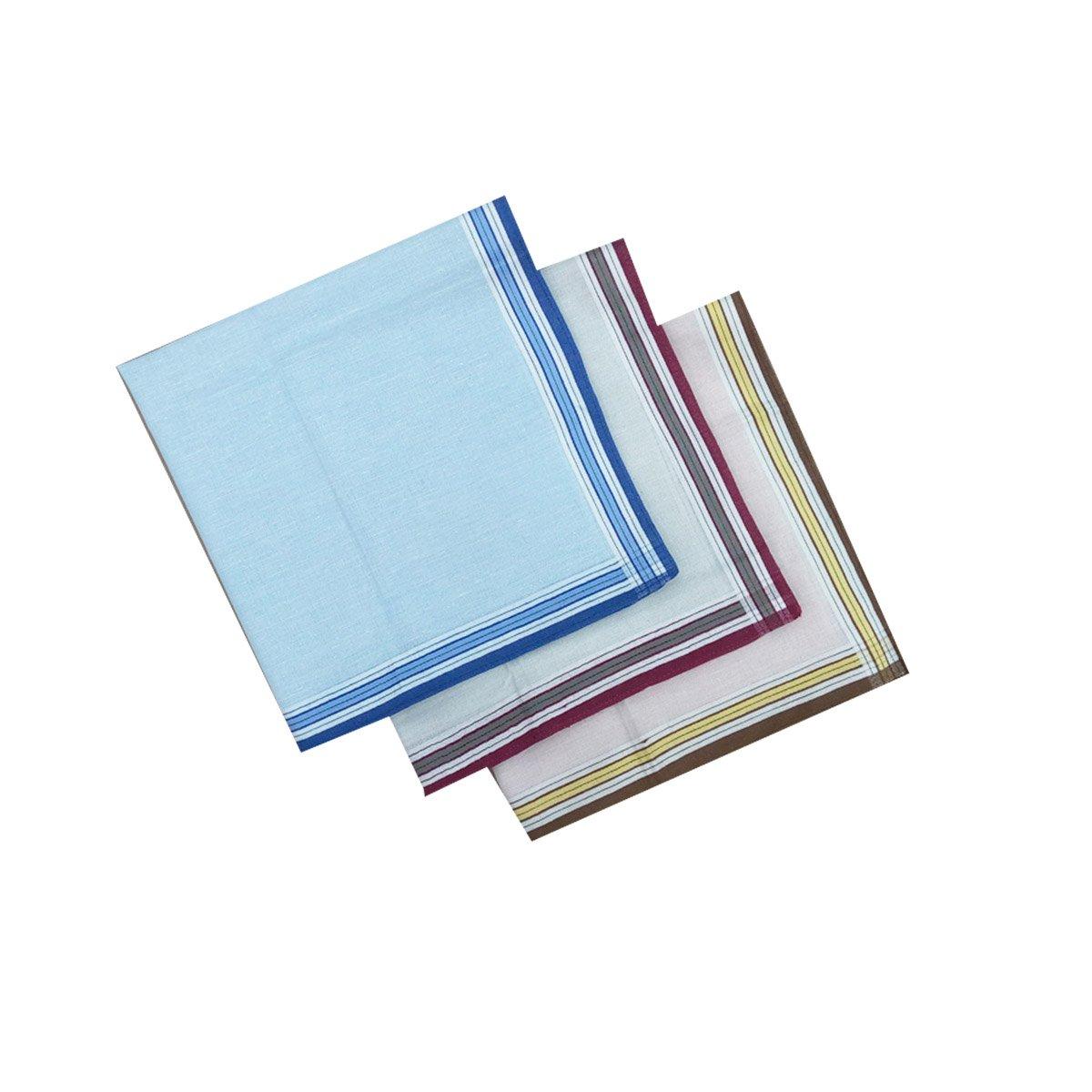 LACS Men's Cotton Handkerchiefs 12 Pack