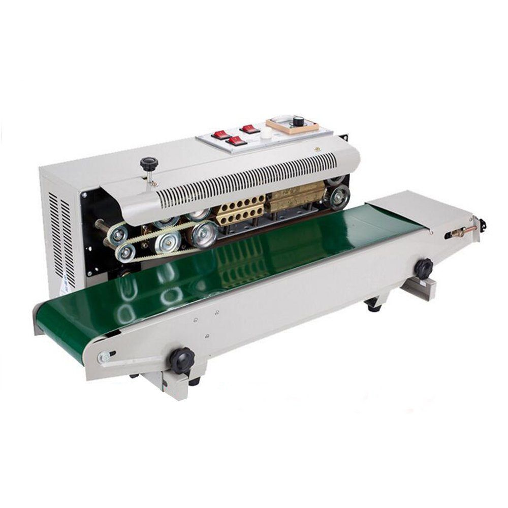ZXMOTO Auto Continuous Sealing Machine Horizontal Plastic Bag Band Sealing  Closer Kit Adjustable Time Packing Sealer 110V