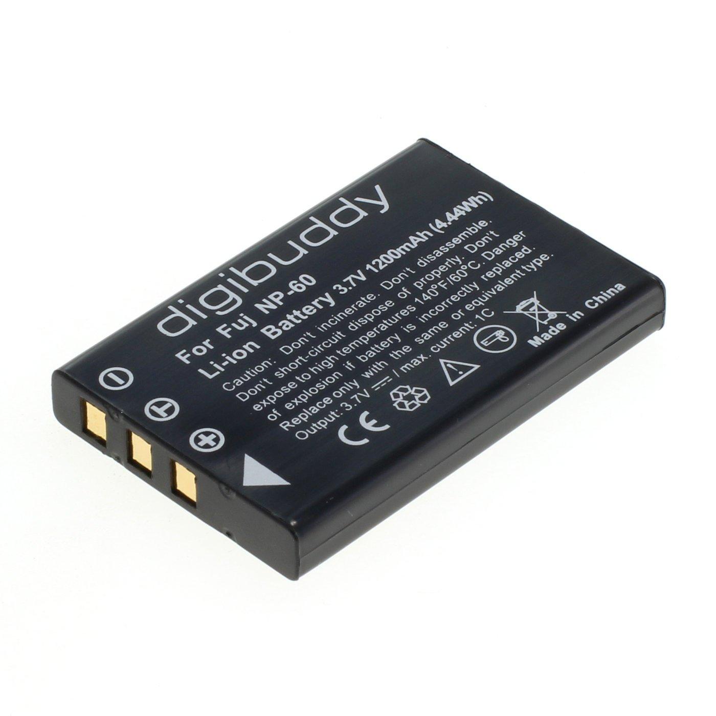 NP-60 - Batería de Ion de Litio para Fuji (1200 mAh, 3,7 V)