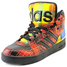 Adidas Originals ObyO JS Jeremy Scott Instinct Hi Plaid Tartan Q23667 Men's Shoes