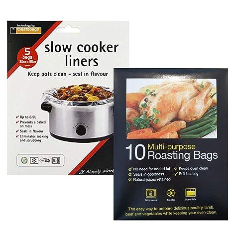 Paquete de 10 bolsas de cocina lenta y 10 bolsas grandes de ...