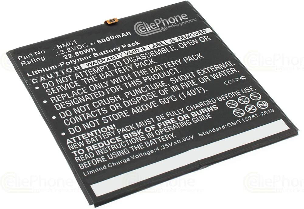 cellePhone batería Li-Polymer para Xiaomi MiPad 2 (reemplazado BM61) - 6000 mAh