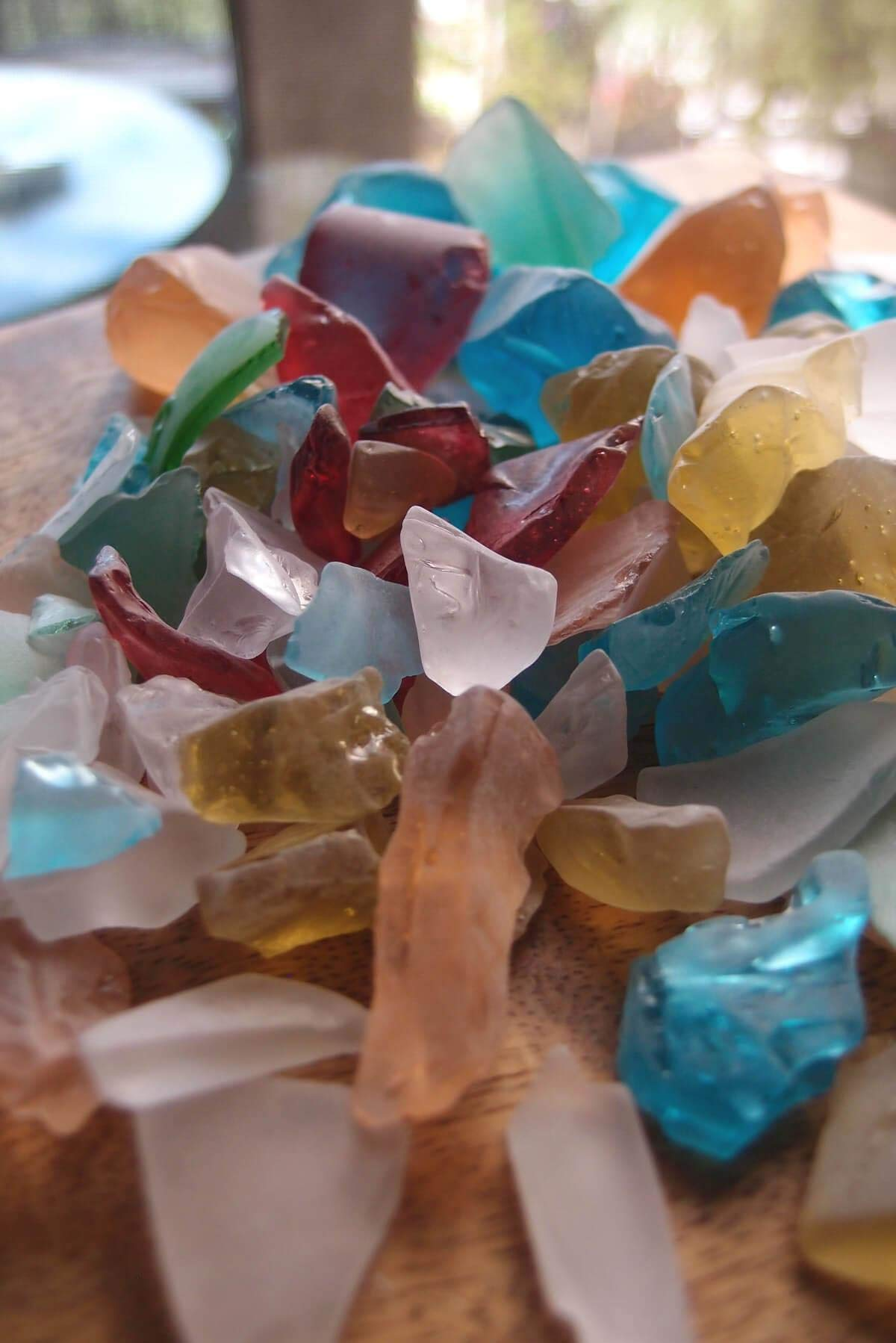 Richland Beach Glass Multi-Color Set of 12 Bags