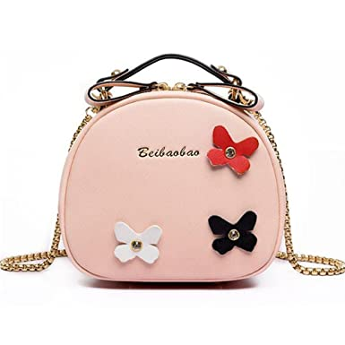 94c64913e572 GUGHIS Cute Mini Bags PU Leather Crossbody Chain Shoulder Handbags Purse  with Bowknot for Womens Girls  Amazon.co.uk  Clothing