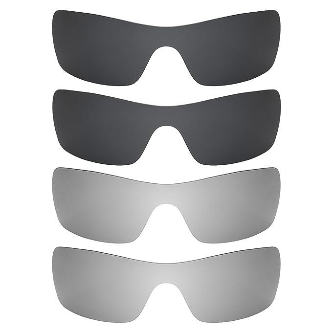 Revant Combo de 4 pares de lentes polarizados, de reemplazo, para Oakley Batwolf K021: Amazon.es: Ropa y accesorios