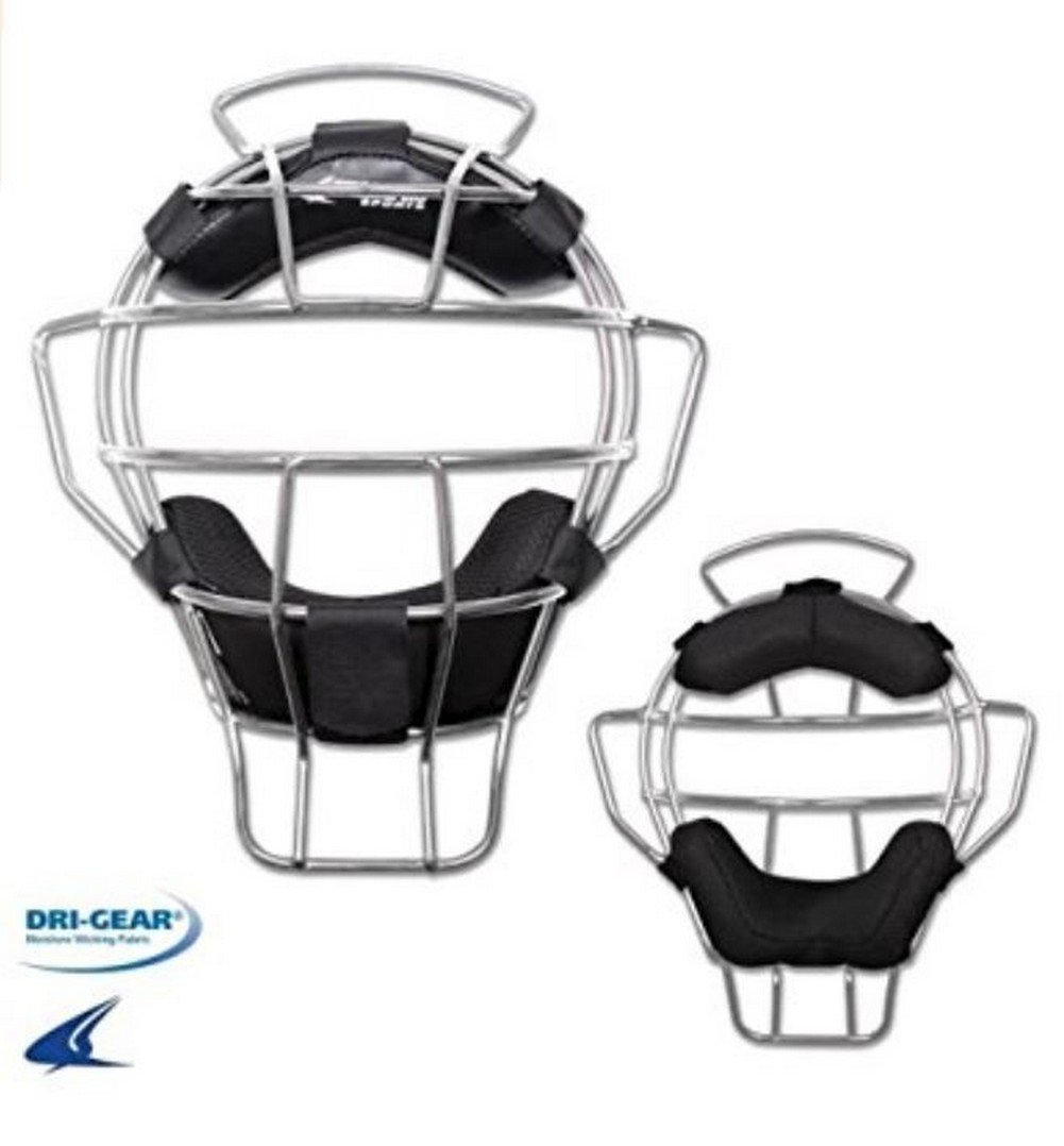 CHAMPRO Pro-Plus Aluminum Lightweight Umpire Mask Dri-Gear Ump CM82SI (Silver) by CHAMPRO