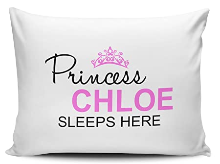 Personalised Princess Any Name Sleeps Here Pillow Case Amazoncouk Extraordinary Personalised Pillow Covers
