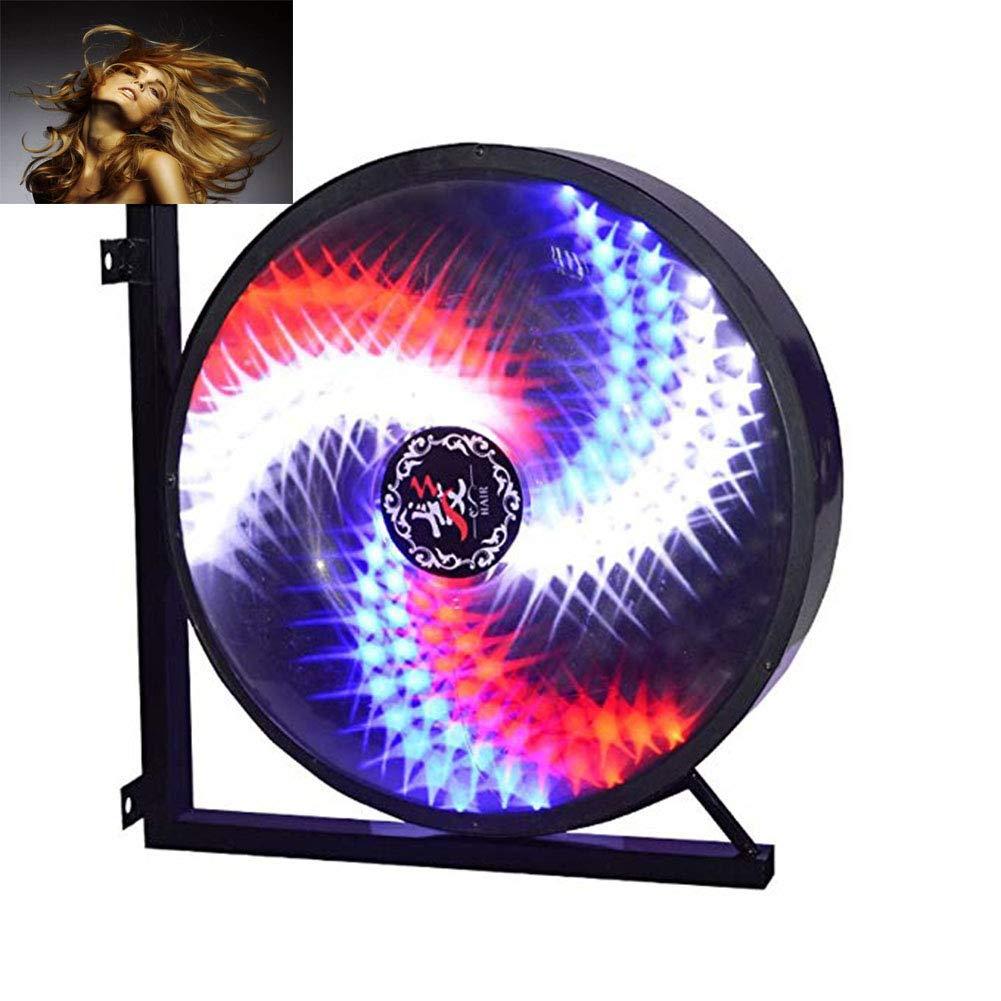 Barber Shop Turn luce Hair Salon segno palo alluminio Mulino A Vento illuminato salone rotante portico attraente segno IP44 impermeabile risparmio energetico 45cm 17.7 in [classe energetica a],Figure3