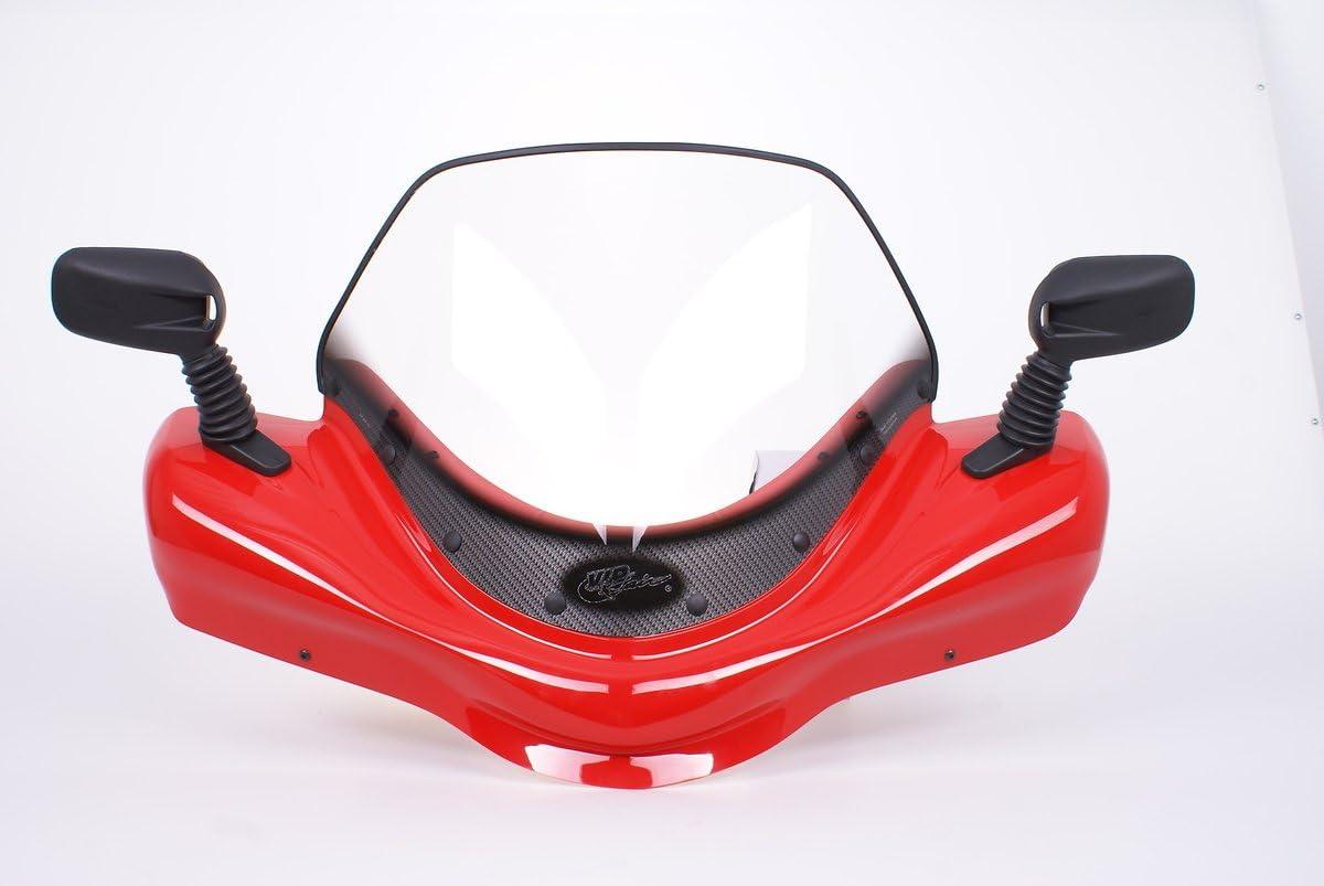 Suzuki Kingquad 500 power stering Red windshield VIP-AIR 3492