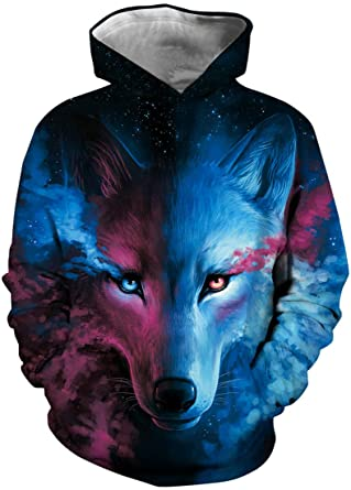 EUDOLAH Jungen Sweatshirts für 4-13 Alter Kinder Langarm 3D Druck Mehrfarbig Bunt Kids Herbst Winter Hemd mit Kaputzen