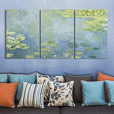 3 Panel Waterlilies by Claude Monet x 3 Panels