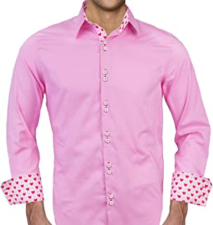 product image for Pink Valentines Day Designer Dress Shirt - Made in USA