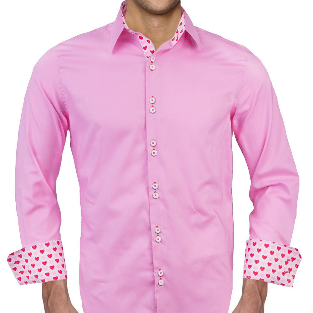 Pink Valentines Day Designer Dress Shirt Made In Usa At Amazon