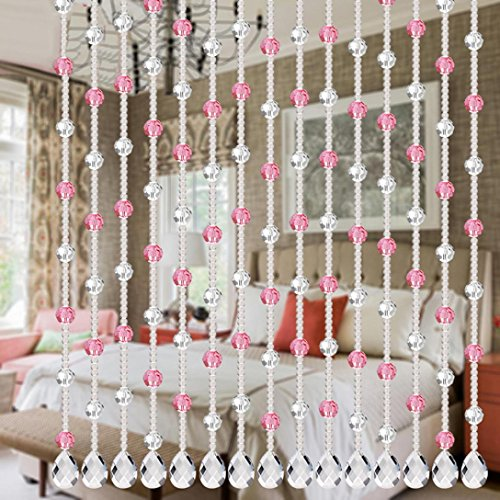 Kanzd 1 String New Luxury Crystal Glass Bead Curtain Living Room Bedroom Window Door Wedding Decor for Home