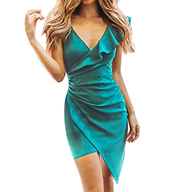 low priced bd4e2 cf17f Mambain Vestito Donna Cocktail,Mini Abito Donna Eleganti ...