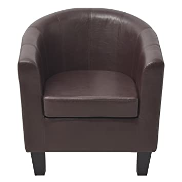 Festnight Fauteuils cabriolet en Cuir artificiel Noir Marron