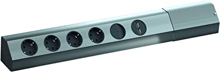 Bachmann 923.008 Tipo F Negro, Plata caja de tomacorriente - Caja ...