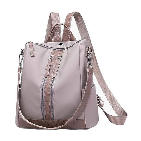 Mochila de mujer gris, mochila para niñas estudiantes, cartera para iPhone X 8 7 6s Aeeque ...