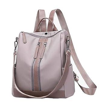 Mochila de mujer gris, mochila para niñas estudiantes, cartera para iPhone X 8 7