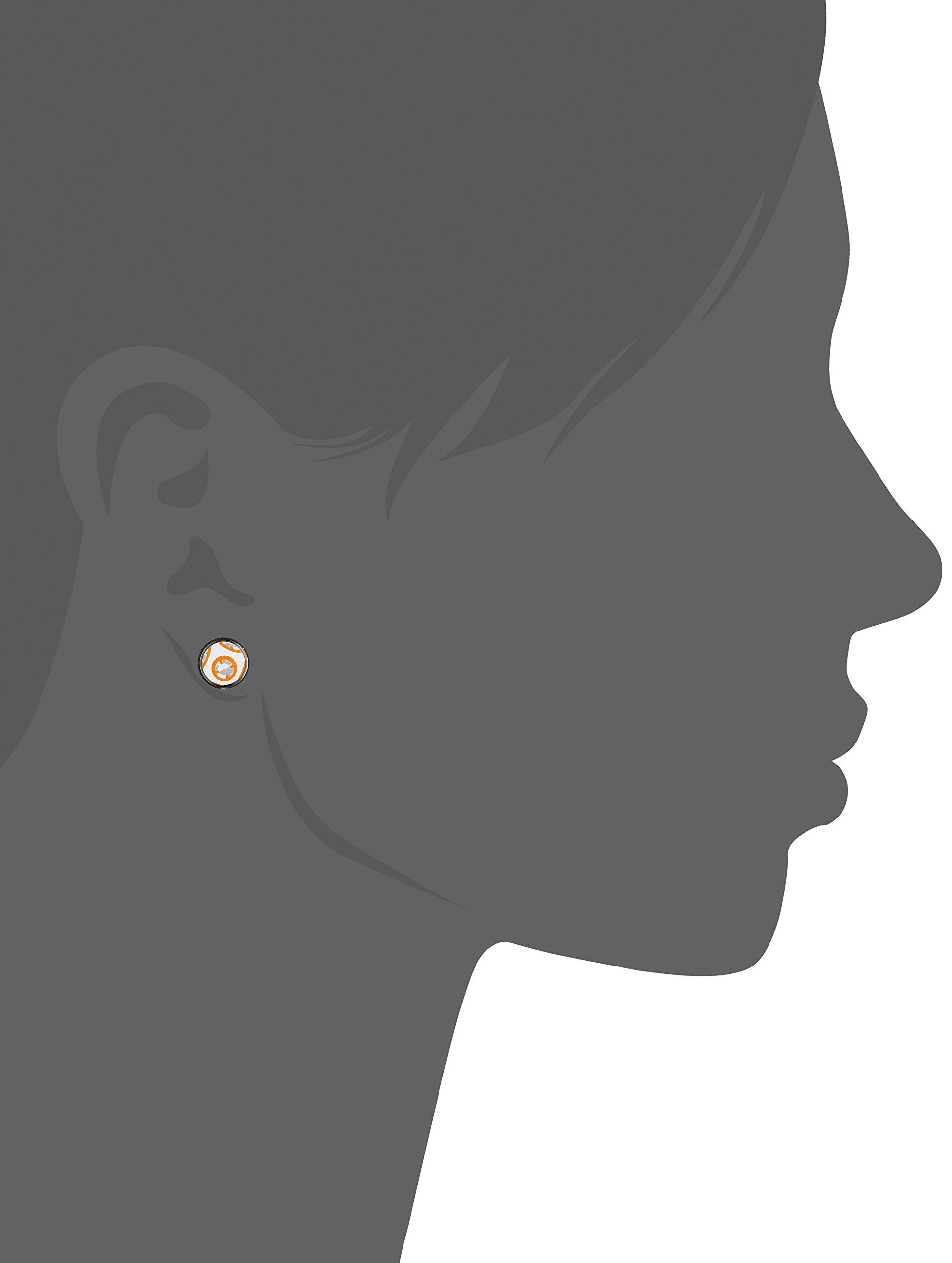 Star Wars Jewelry Unisex Episode 7 BB-8 Droid Stainless Steel Stud Earrings