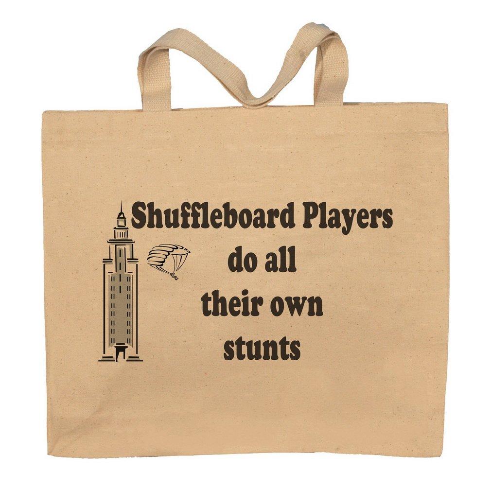 Shuffleboard Players Do All Their Own Stunts Totebag Bag