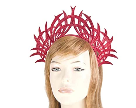 Red lace crown fascinator by Max Alexander  Amazon.com.au  Fashion bba218ddb47
