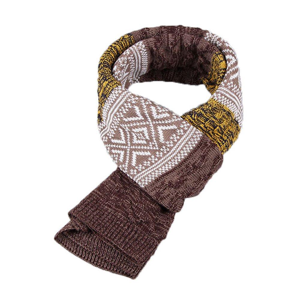 JUNGEN Bufanda de Hombre sección larga bufanda Bufanda de Cuello Caliente Elegantes Abrigo Del Mantón, 185*32cm, Amarillo