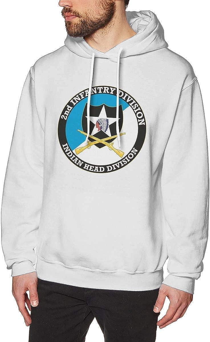 US Army Veteran 2nd Infantry Division Mens Hooded Sweatshirt Theme Printed Fashion Hoodie