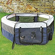 TRIXIE Pet Products Soft Sided Mobile Play Pen, Medium
