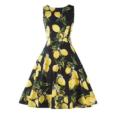 Amazon.com: Suroomy Vintage Cocktail Dress For Women Retro Pin Up ...