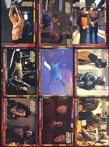 STAR TREK THE NEXT GENERATION TNG PROFILES 2000 SKYBOX BASE CARD SET OF 82 ()