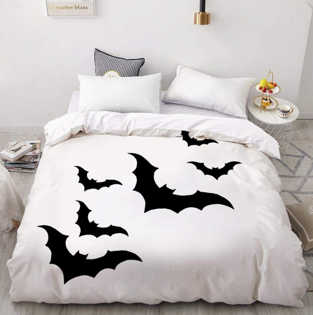 SLEEPHOPE Charming Happy Halloween Cotton Microfiber 3pc Bedding Quilt Duvet Cover Sets with 1//2 Pillow Cases,8,UK//Double