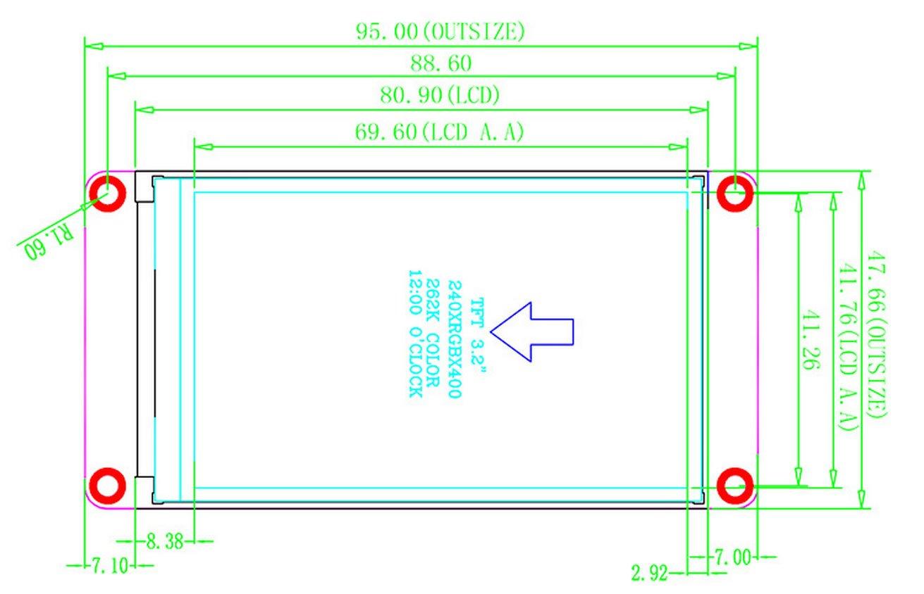 Nextion pantalla t/áctil HMI mejorada de 2,8 pulgadas para Arduino Raspberry Pi Nextion Editor GUI Designing