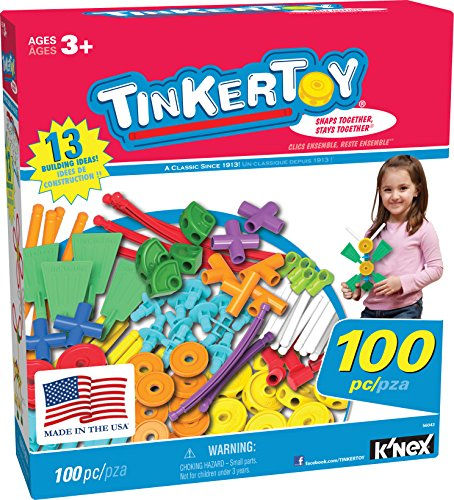 TINKERTOY ? 100 Piece Essentials Value Set ?  Ages 3+ Preschool Education Toy