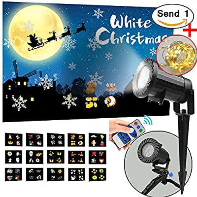 Led Valentine's Day Light Projector - 2017 Newest Version Bright Led Landscape Spotlight with 15 Slides Dynamic Lighting Landscape Led Projector Light Show for Christmas, Party, Holiday Decoration