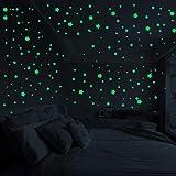Jilebao 夜光テッカー ウォールステッカー蛍光 壁紙 3D星 円 蓄光シール 部屋におしゃれ 天丼/壁/子供部屋用 室内装飾