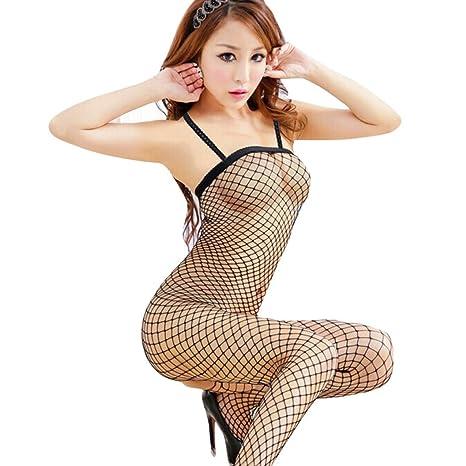 Ropa interior, YanHoo Mujer Mallas Bodystocking Babydoll Lencería Chemise sin mangas Camisón Moda Bonita encantador